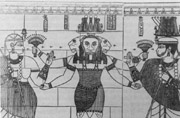 Pharaoh Natakamani-right and Queen Amanitore-left